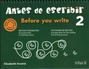 Antes de leer y escribir 2 editorial trillas