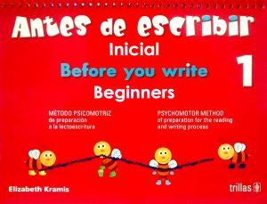 Antes de leer y escribir inicial 1 editorial trillas